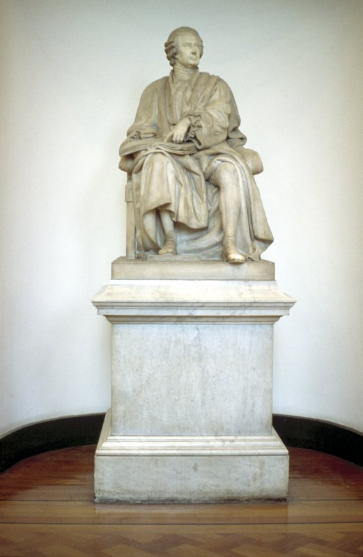 View of statue of David Boyle, in Parliament Hall.