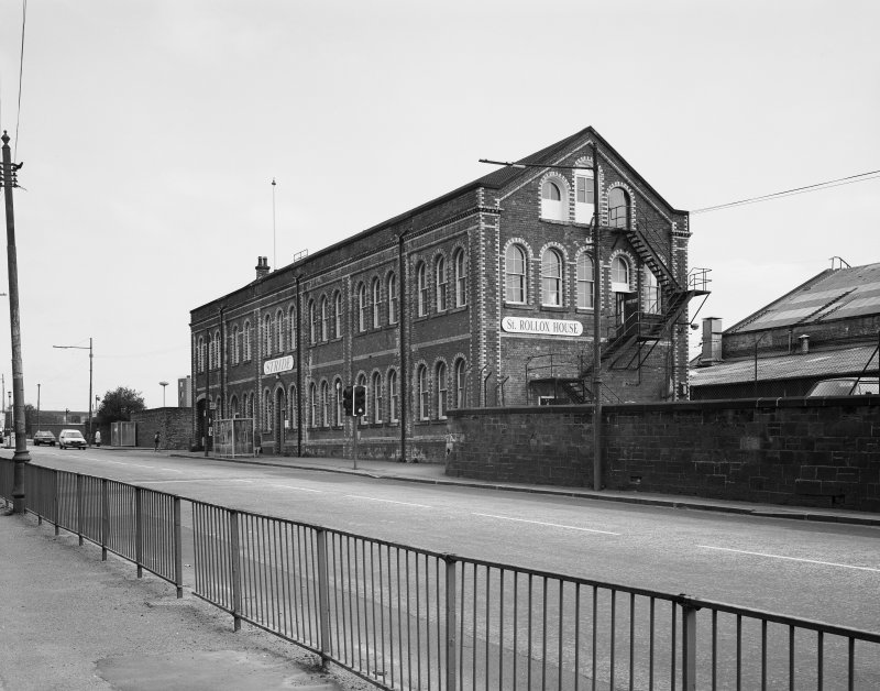 View of St Rollox House formerly Offices of Works, St Rollox Locomotive Works, Springburn, Glasgow from southwest.
