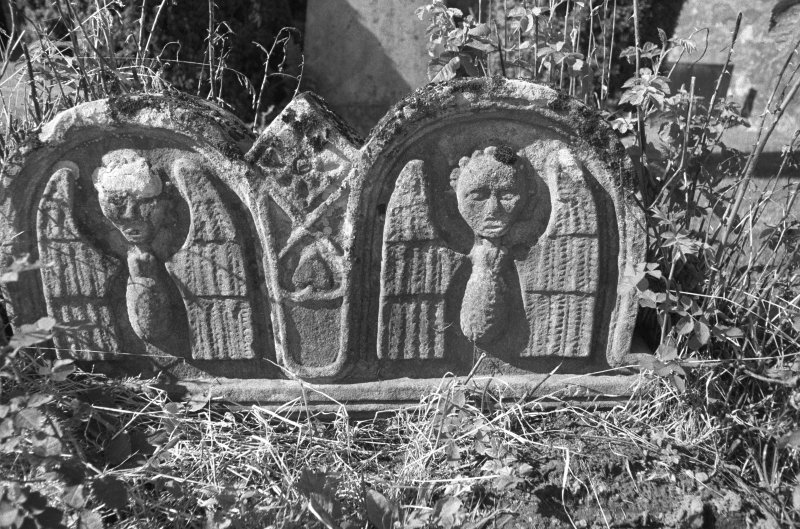 Detail of headstone at Tillicoultry burial ground.