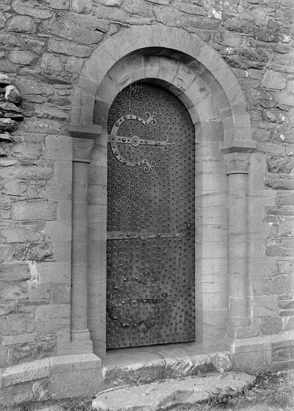 View of doorway.