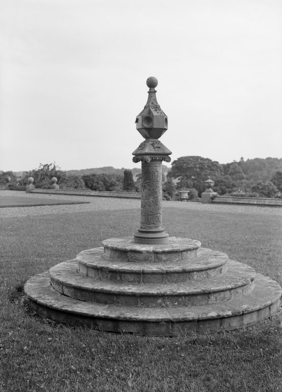 View of sundial, Castle Kennedy