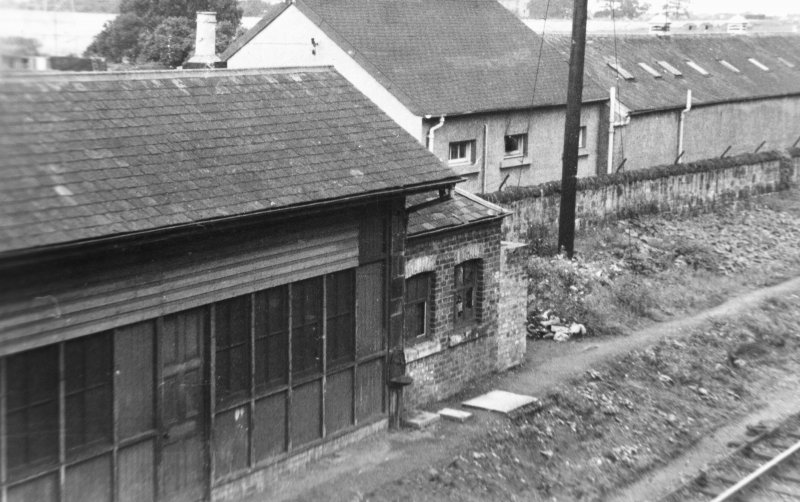 Edinburgh, Newhailes Station. View of station building and portion of track. Insc:  'N.B.R.Newhailes'.