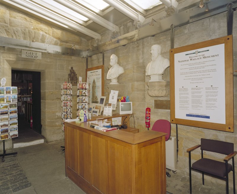 Interior. Ground floor, reception area, view from south west