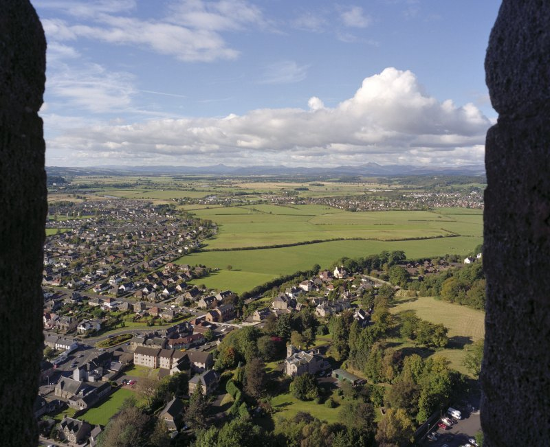 View from crown steeple of Wallace Monument, Stirling looking west