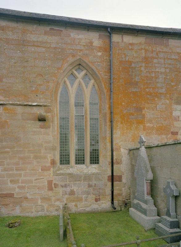 Fearn Abbey.  View of traceried window in South wall.