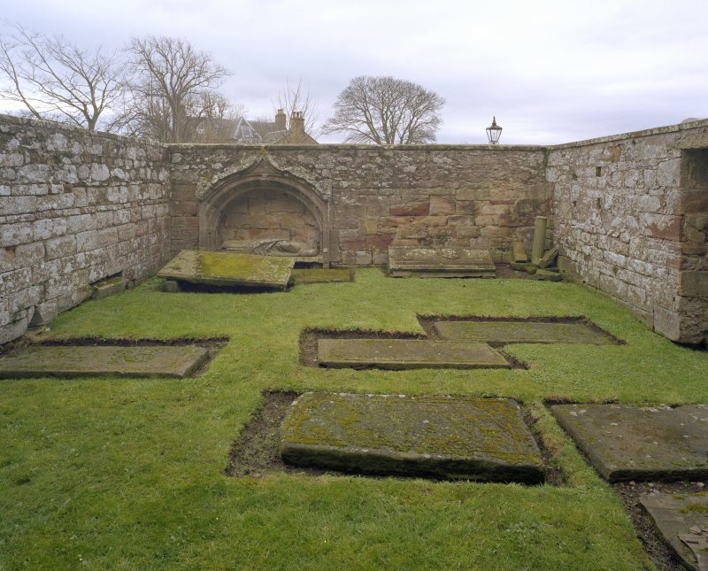 Fearn Abbey.  St. Michael's aisle, view of interior from North.