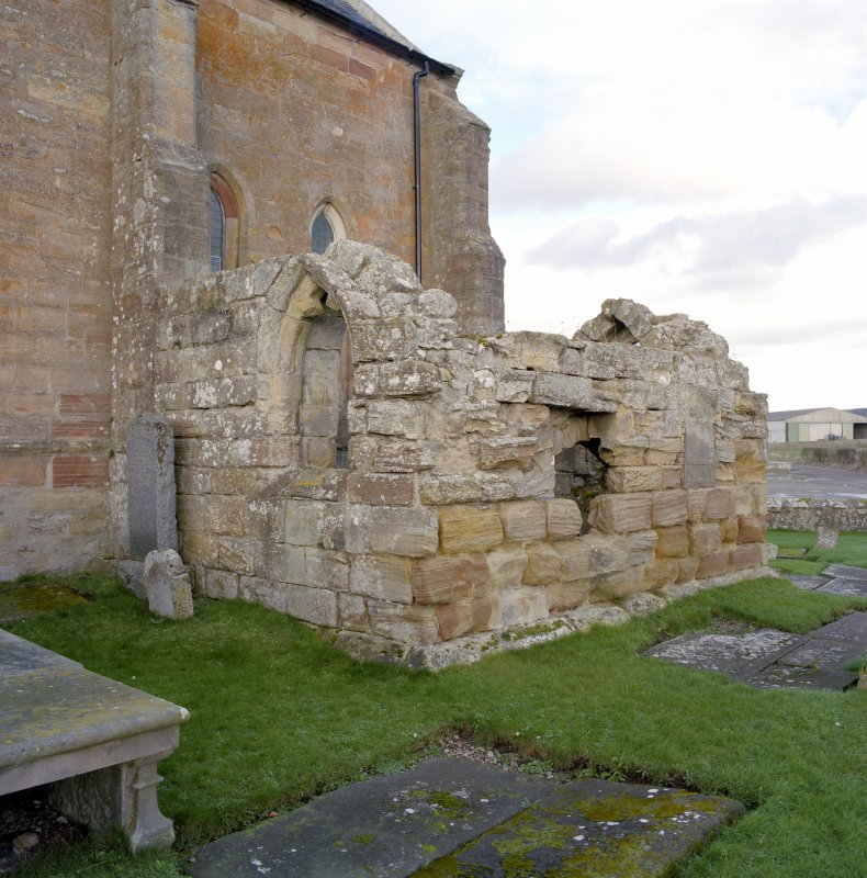 Fearn Abbey.  South East aisle, view from South West.