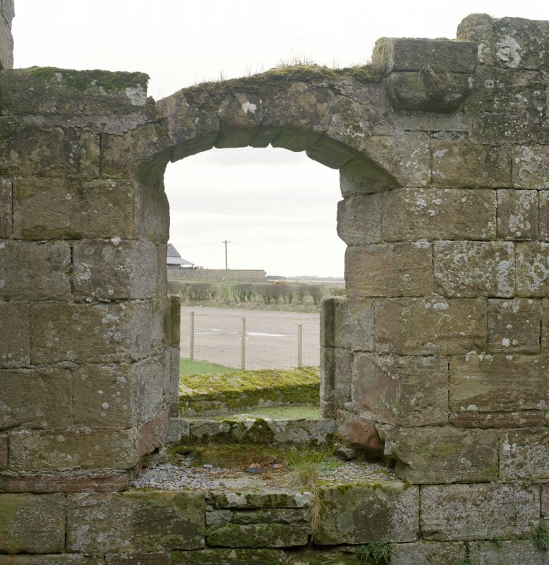 Fearn Abbey.  Ross aisle, detail of East window from West.