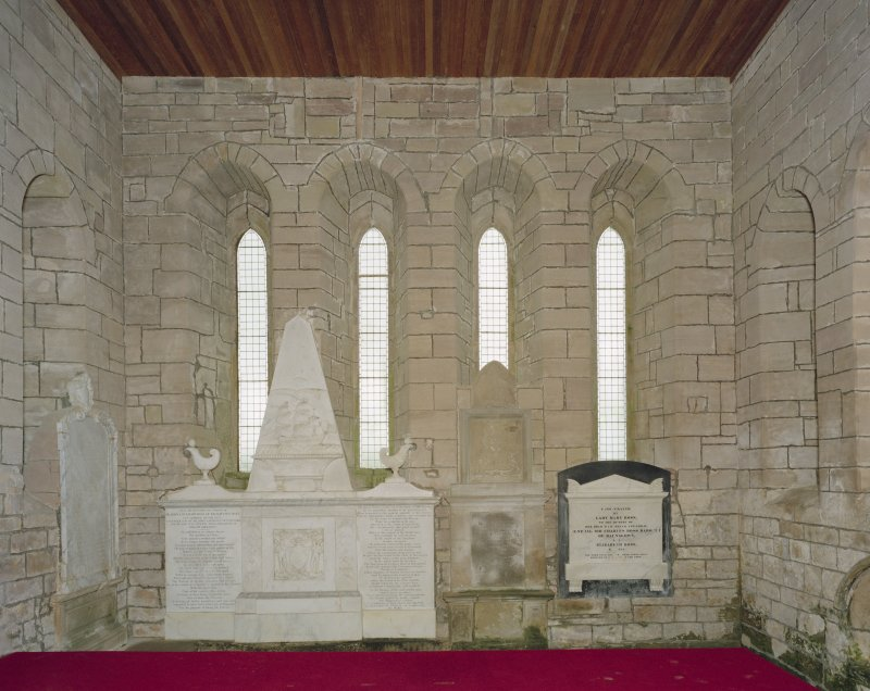 Fearn Abbey, interior.  View of East wall from West.