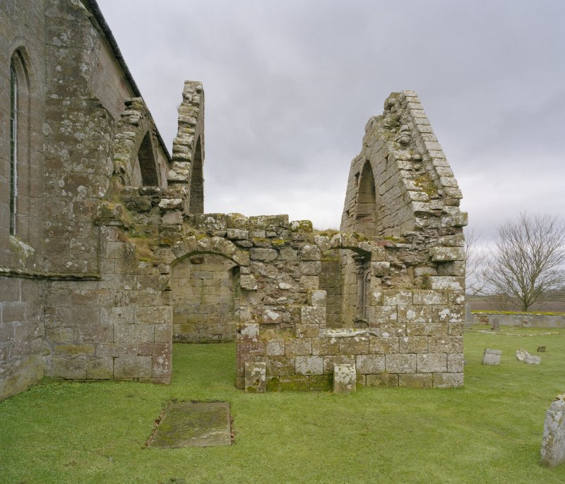 Fearn Abbey.  South East aisle, view from West.