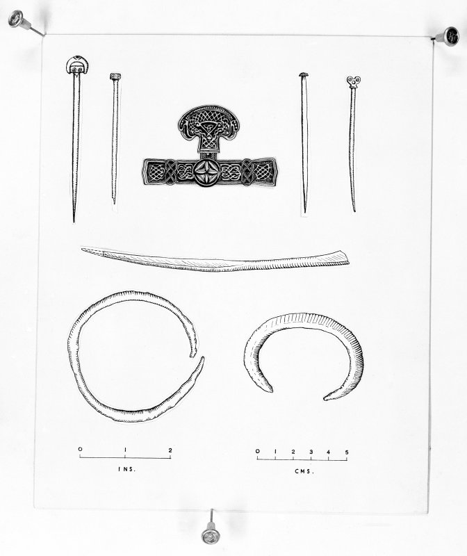 Finds drawings Hamilton Excavations.