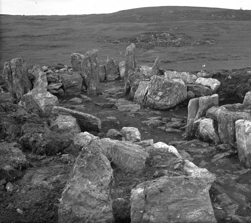 Views of site excavation at 'Standing Stones of Yoxie' house, Whalsay Hamilton