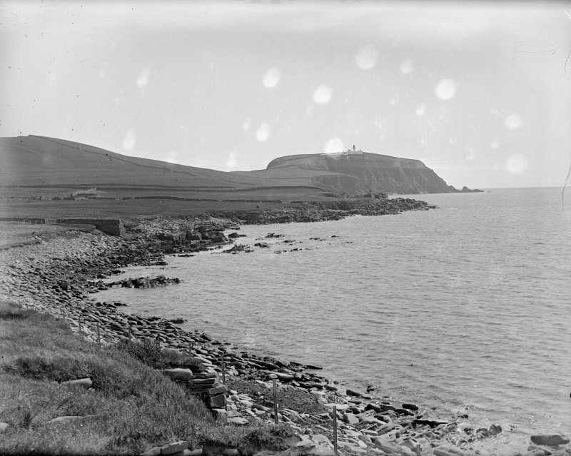Sumburgh head and lighthouse from Jarlshof