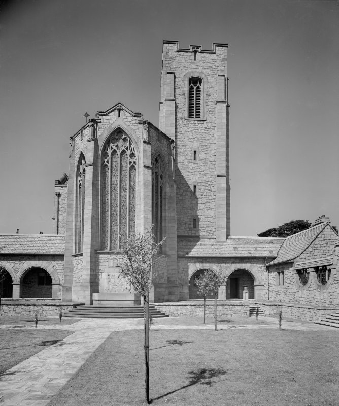 West Saville Terrace, Reid Memorial Church. General view from East side of court.