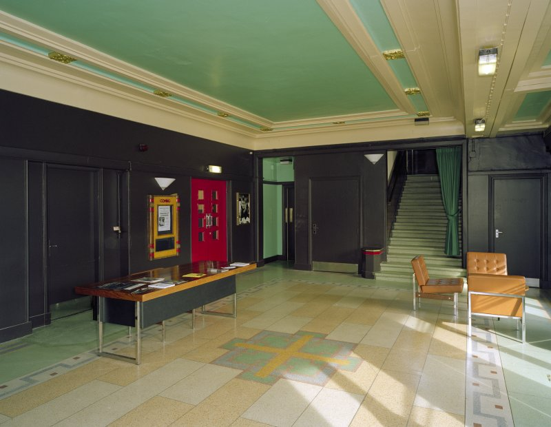 Interior view of the Regal Cinema, Bathgate, from W, showing foyer