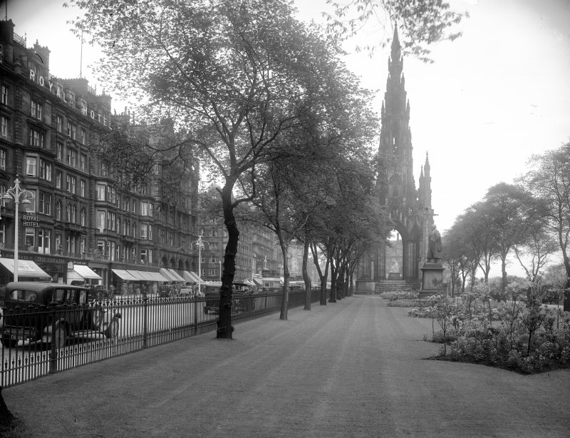 General view of part of Princes Street showing Scott Monument