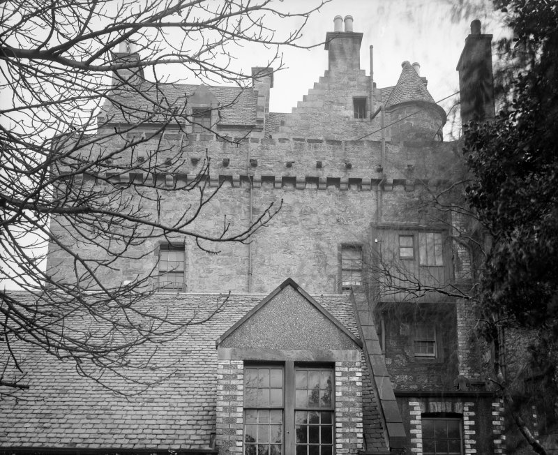 Merchiston Castle View from West showing addition