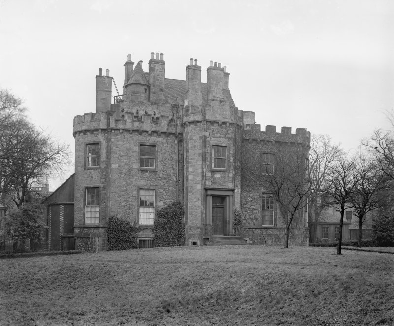 Merchiston Castle View from South showing additions