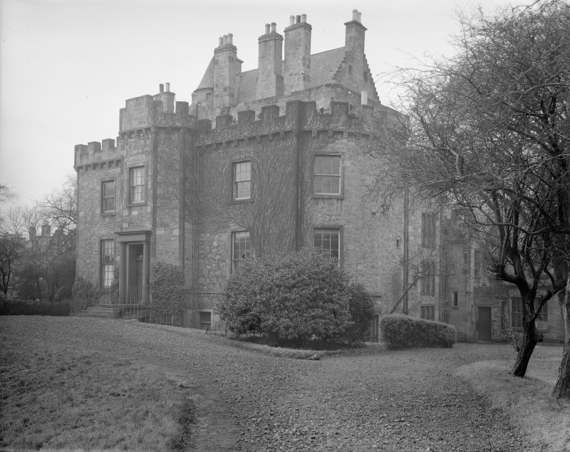 Merchiston Castle View from South East showing additions