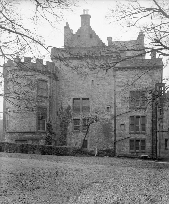 Merchiston Castle View from East showing addition