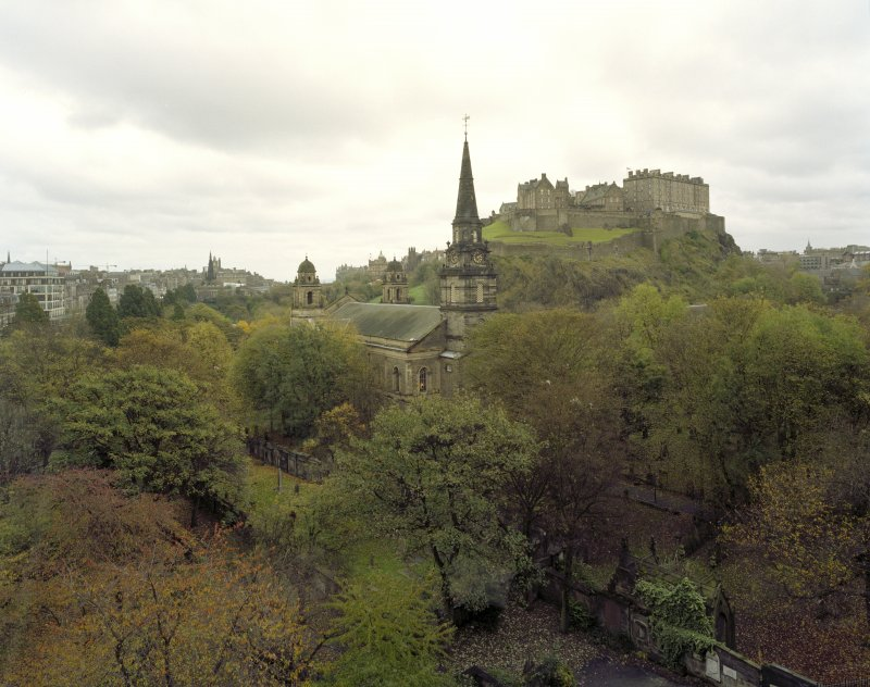 Elevated view from window of Caledonian Hotel to west