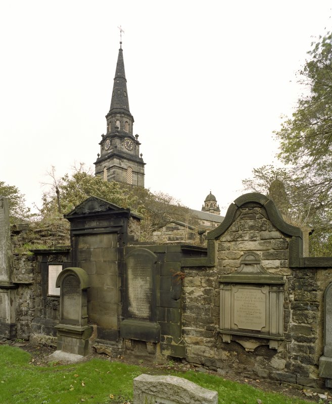 View from graveyard to south west