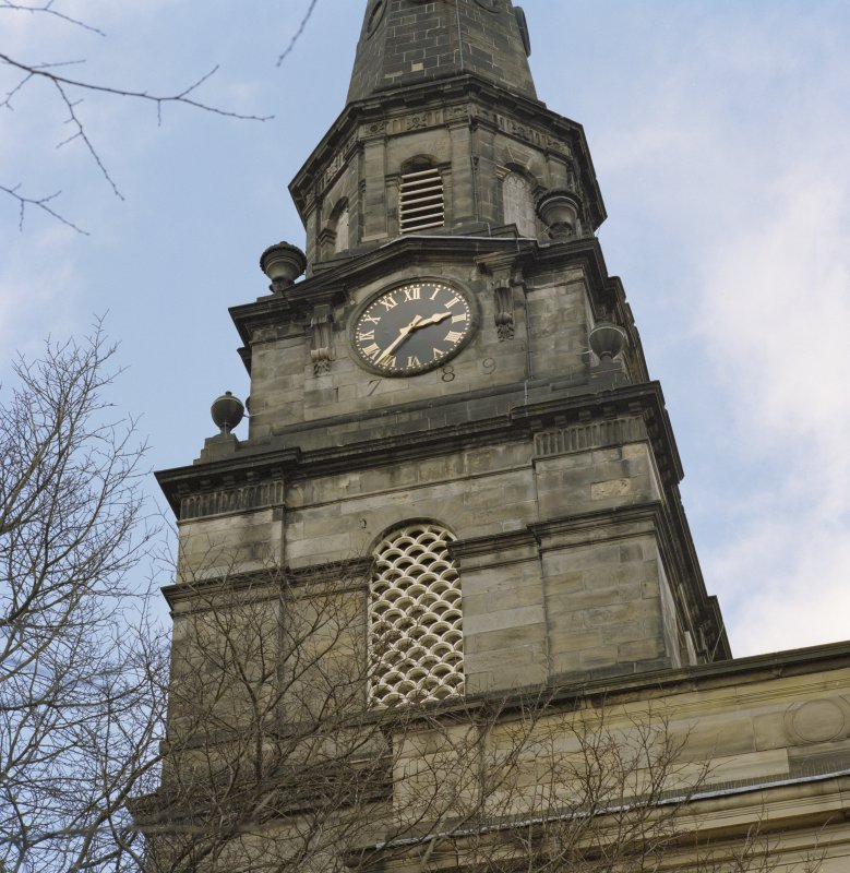 Detail of clock on west tower
