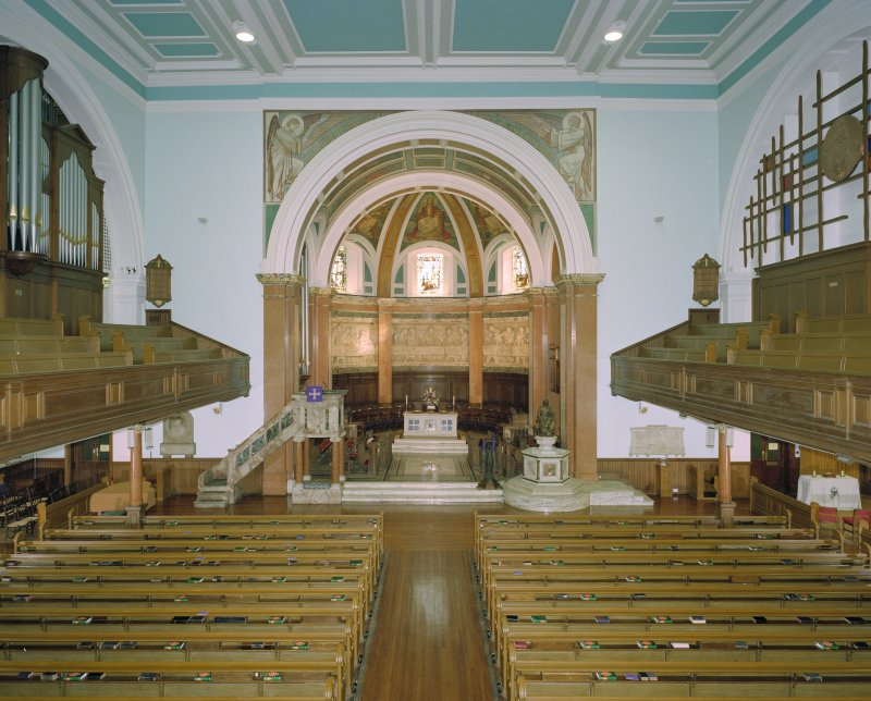 Interior, view from balcony to west