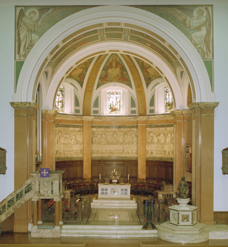Interior, view of chancel from west
