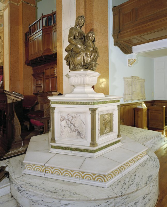 Interior, view of font