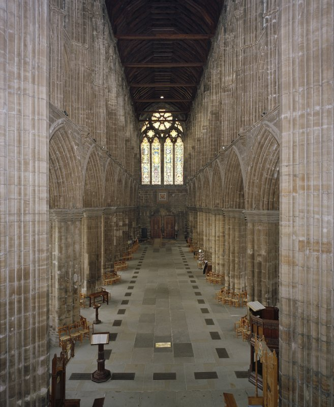 Interior. General view of nave from E.