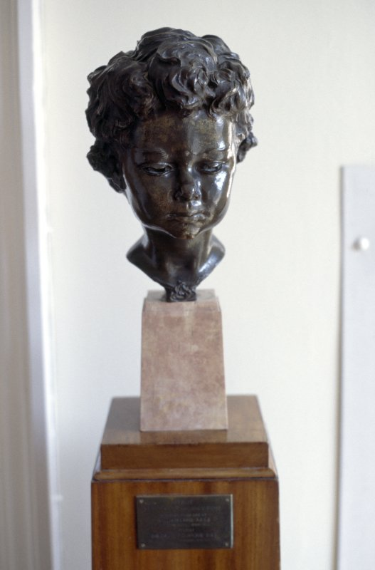 View of bust of Princes Margaret Rose (in its original location, in the main reception area of the Princes Margaret Rose Hospital, Frogston Road West).