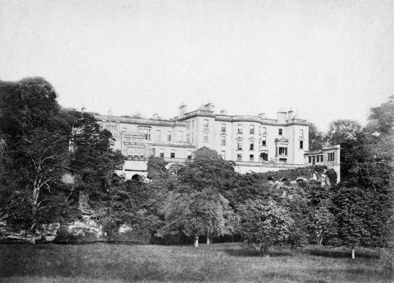 Historic photograph showing view of Blackadder House from North West.