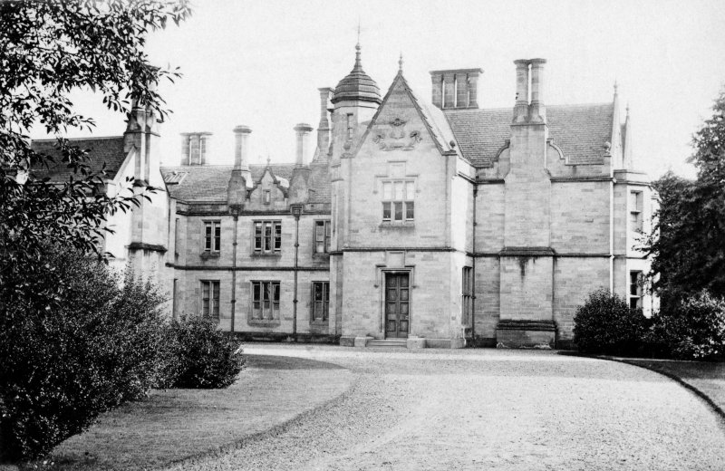Historic photograph showing Allanbank House from North.
