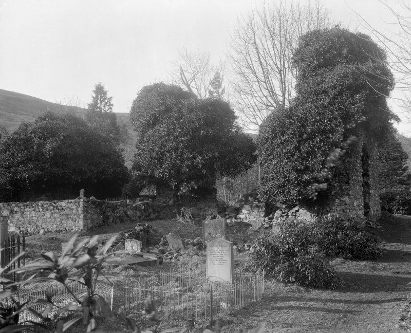 View of graveyard.