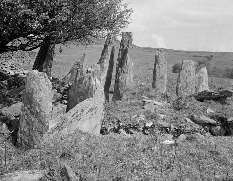 View of Cairnholy chambered cairn