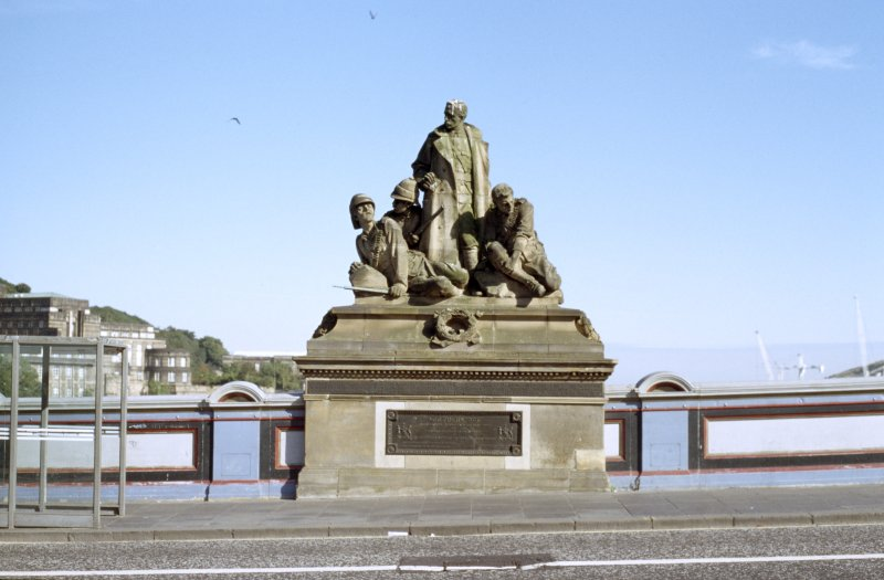 View of King's Own Scottish Borderers Memorial, from W.