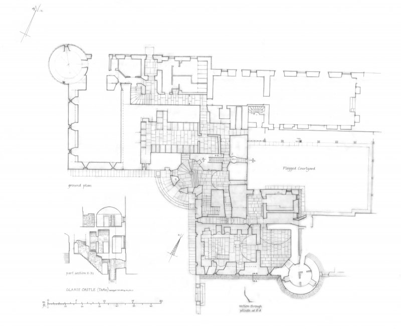 Plan of ground floor.