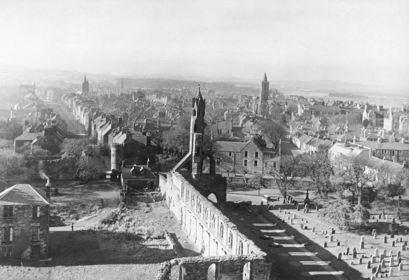 View of St Andrews from St Rule's Tower.
