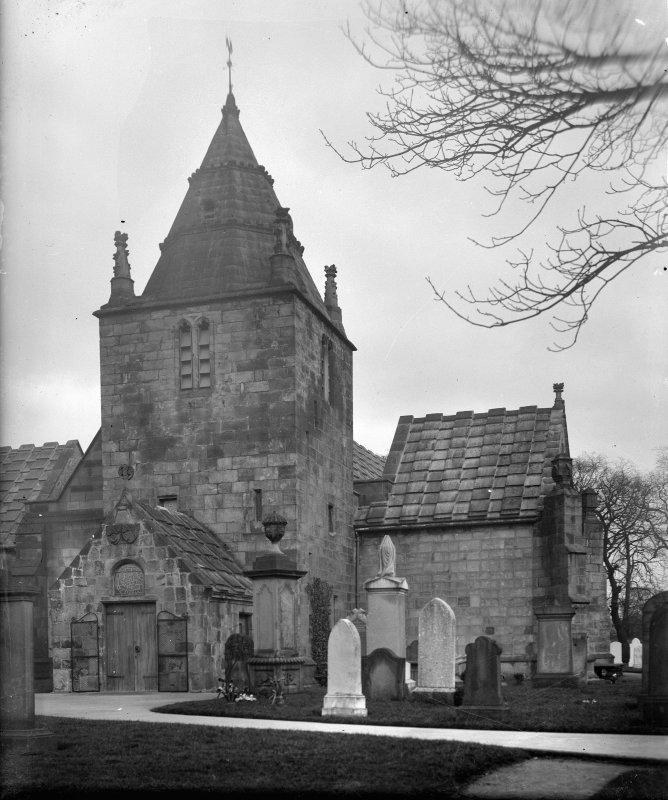 Edinburgh, Kirk Loan, Corstorphine Parish Church. General view from South-West, showing the South transept.