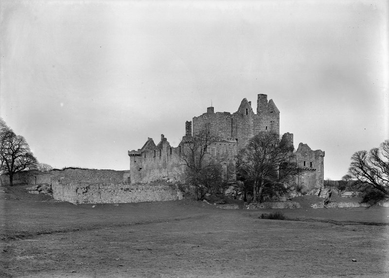 Photograph showing view of Craigmillar Castle from South West