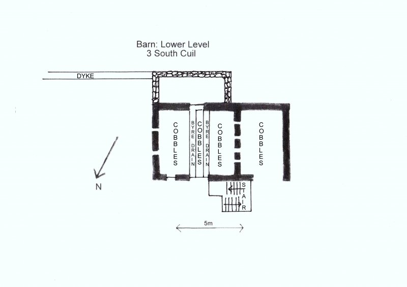 Plan of Barn (Lowewr Level): 3 South Cuil.