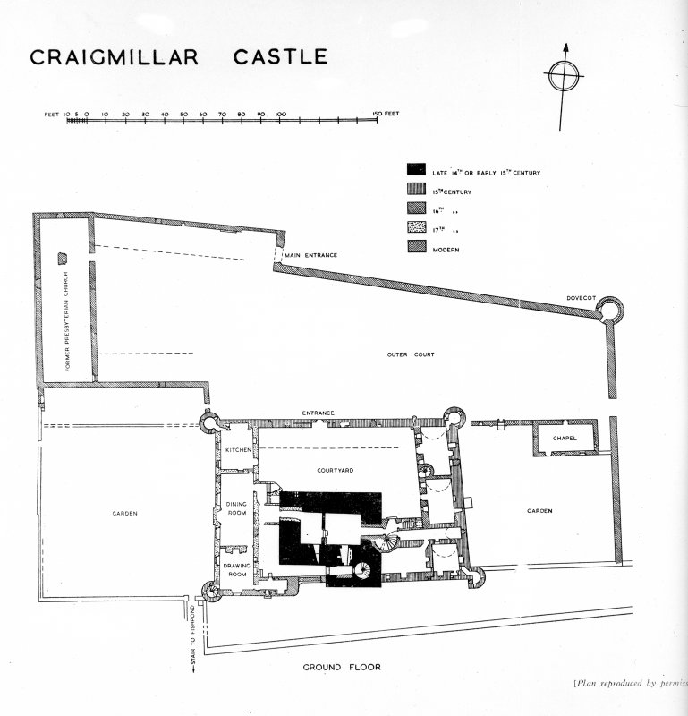 Ground floor plan, insc: 'Craigmillar Castle'