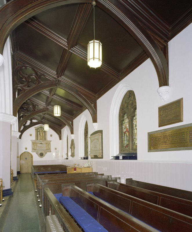 Interior, south aisle, view from west