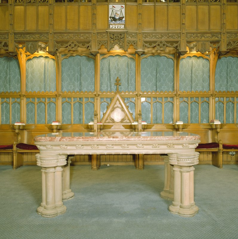 Interior, view of communion table
