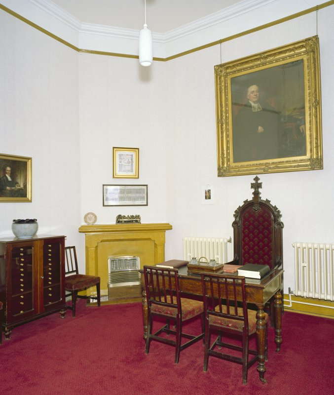 Interior, session room, view from south west