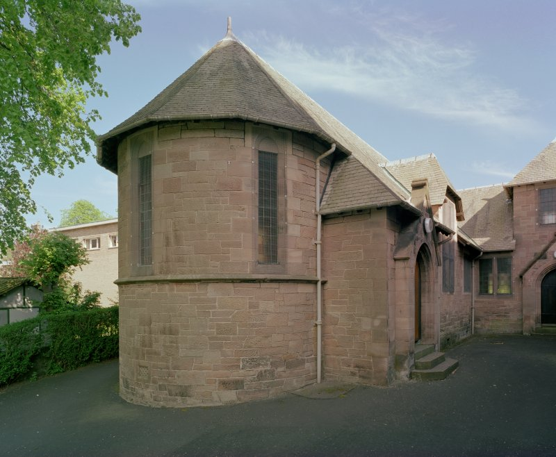 View of lesser church hall from north