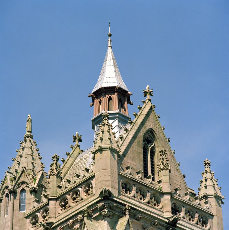 Detail of steeple, St James Church, Kilmacolm