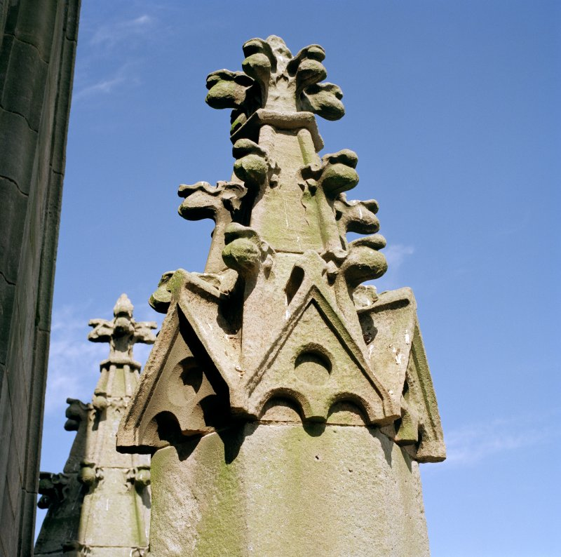 Detail of pinnacle on corner of tower