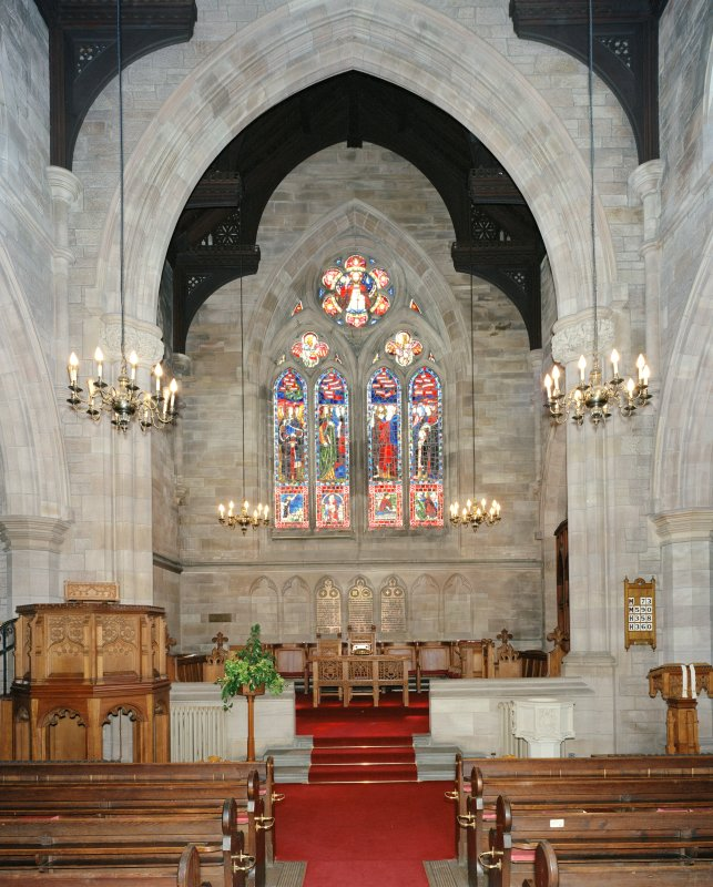 Interior.  Chancel, view from north west